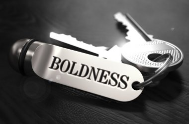 Boldness Concept. Keys with Keyring.
