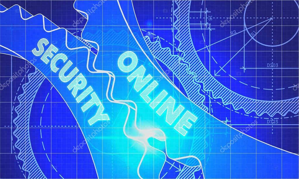 Online security concept blueprint of gears foto de stock online security concept blueprint of gears foto de stock malvernweather Gallery