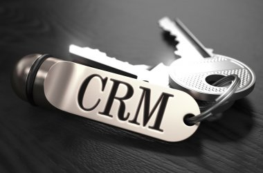 CRM Concept. Keys with Keyring.