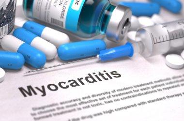 Diagnosis - Myocarditis. Medical Concept.