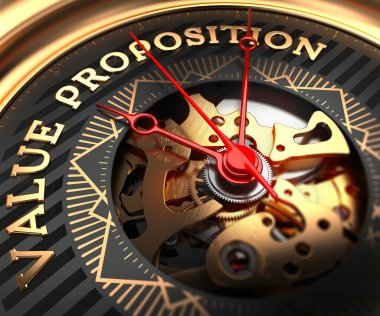 Value Proposition on Black-Golden Watch Face.