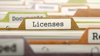 Licenses on Business Folder in Catalog.