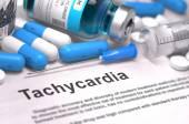 Diagnosis - Tachycardia. Medical Concept. 3D Render.