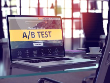 AB Test Concept on Laptop Screen.