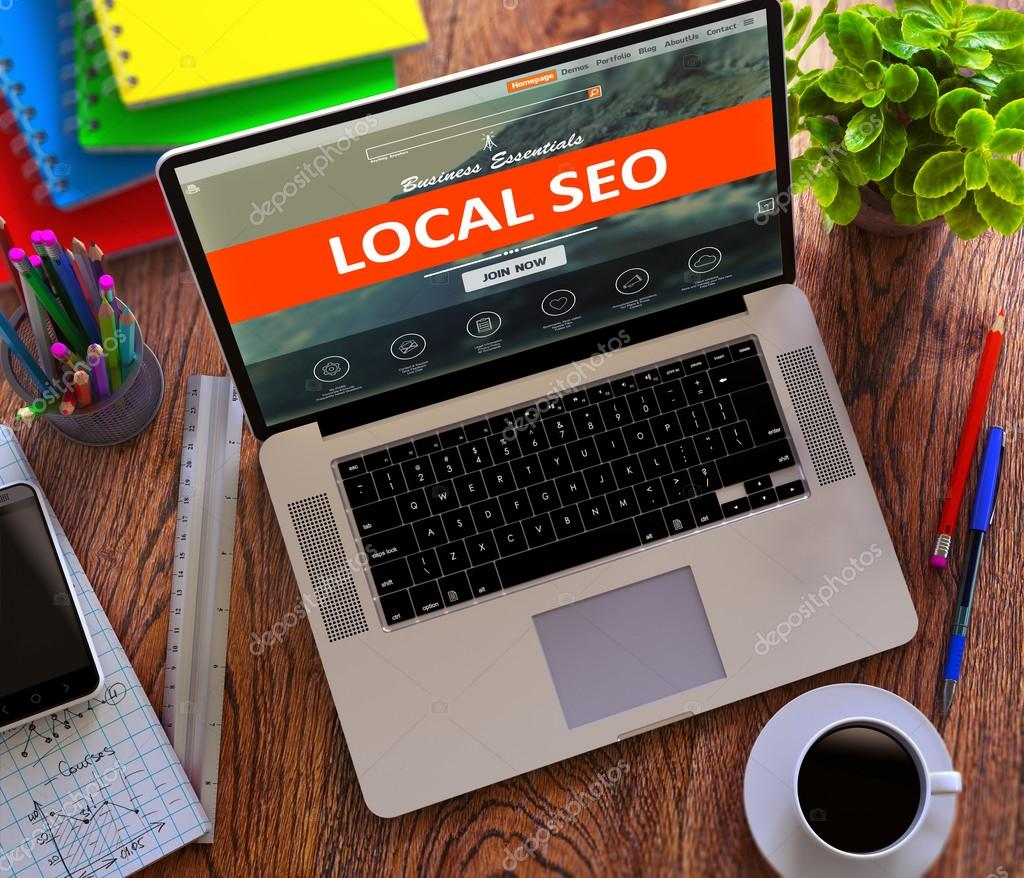 Local SEO. Internet Marketing Concept.