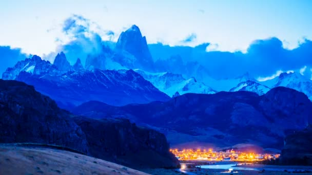 Time lapse of Fitz Roy at twilight