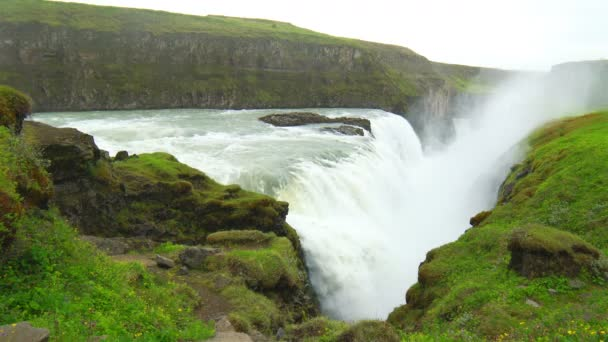 Vodopády Gullfoss na Islandu
