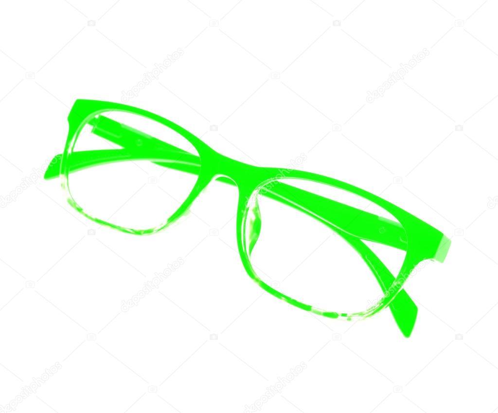 grüne Brille Rahmen — Stockfoto © arztsamui #77796302