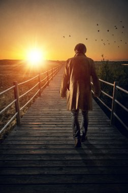 man with long coat