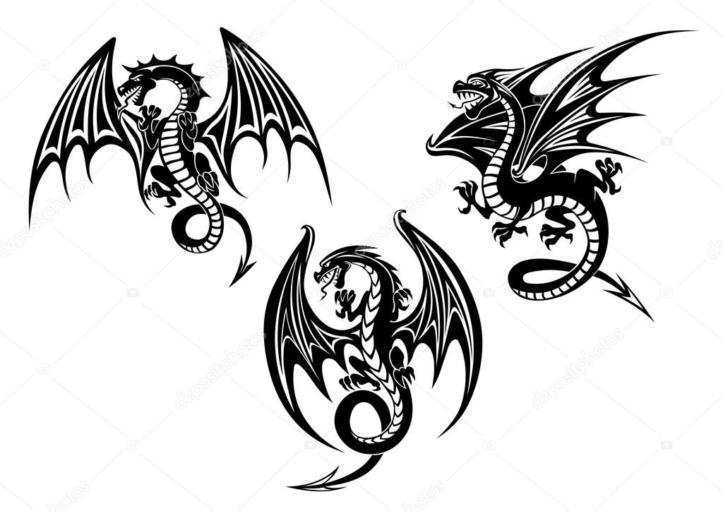 Pictures Dragon With Wings Tattoo Dragons With Outstretched Wings Tattoo Design Stock Vector C Nihongo 75701945 Dragons are one of images that are the most popular tattoo themes. pictures dragon with wings tattoo dragons with outstretched wings tattoo design stock vector c nihongo 75701945