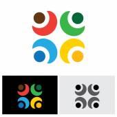 concept vector logo icon of bonding, relationship, trust  frien