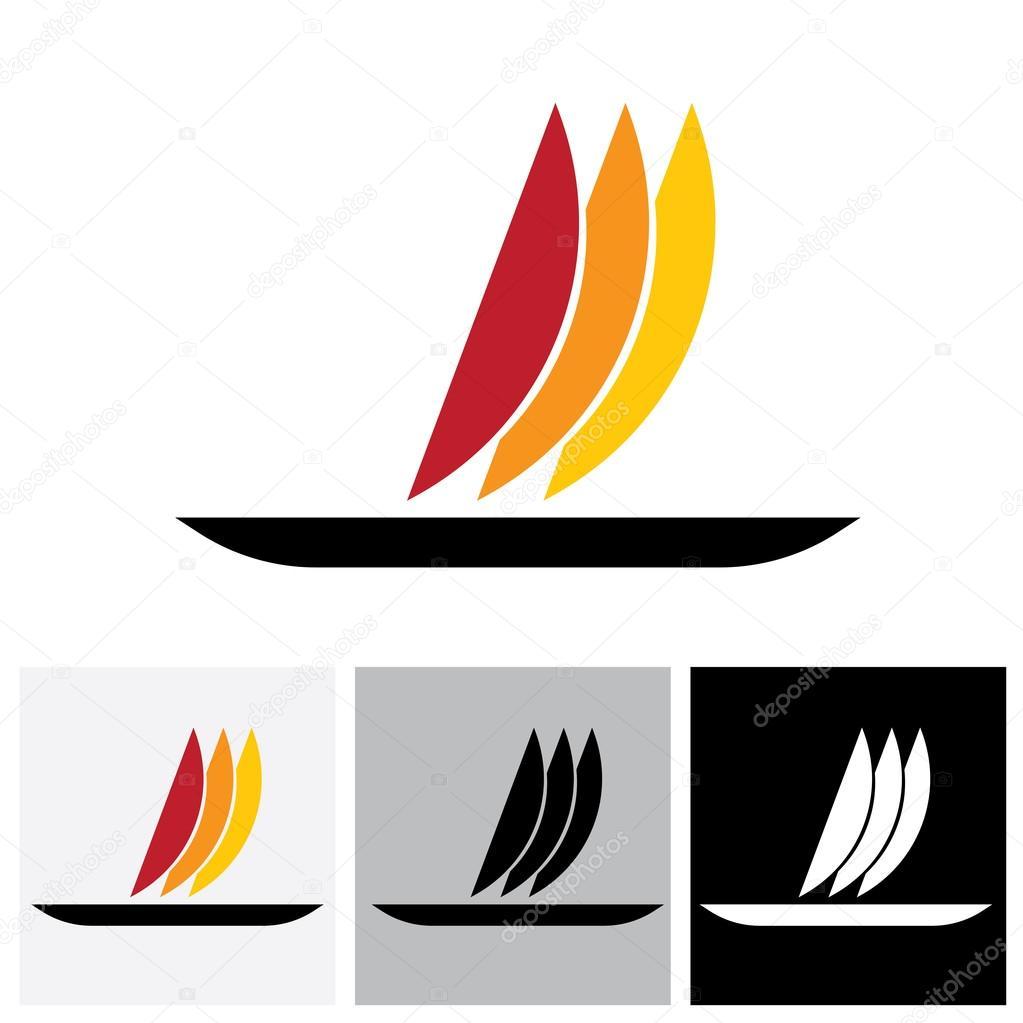 Boat Vector Logo Icon