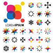 vektorové logo ikonu návrhy lidí, dětí, přátelství