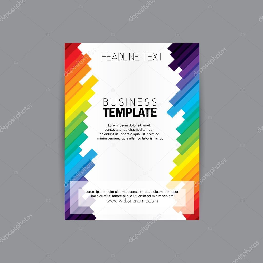 vectores business folleto flyer diseño diseño plantilla vector ...