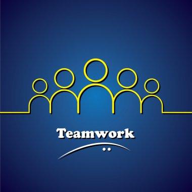 team, teamwork, leader & leadership vector concept graphic