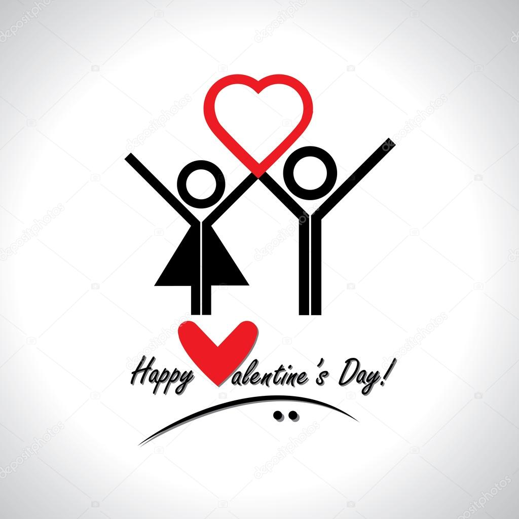 happy valentine's day greeting card vector  concept