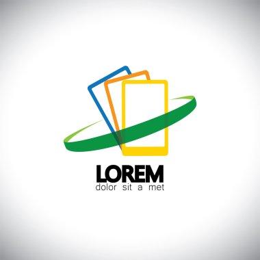 mobile phone or smartphone shop logo design vector template icon