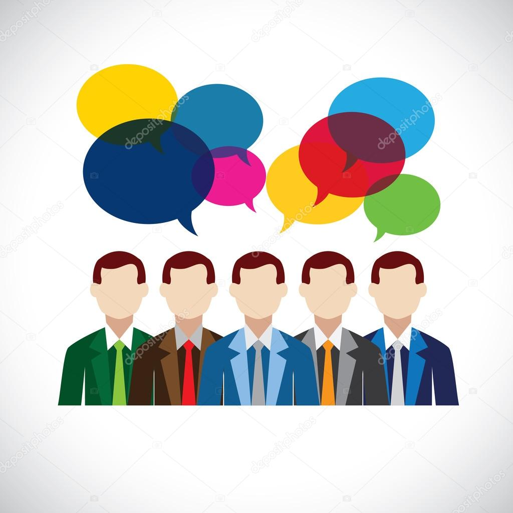 flat vector design of employees or executives in meeting