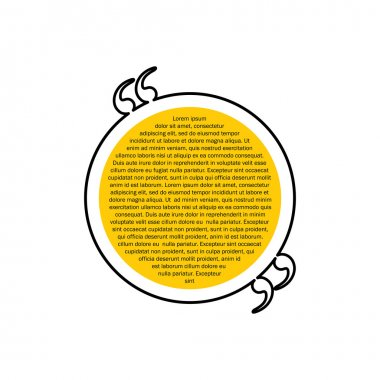 quote text circular bubble vector graphic design using black lin