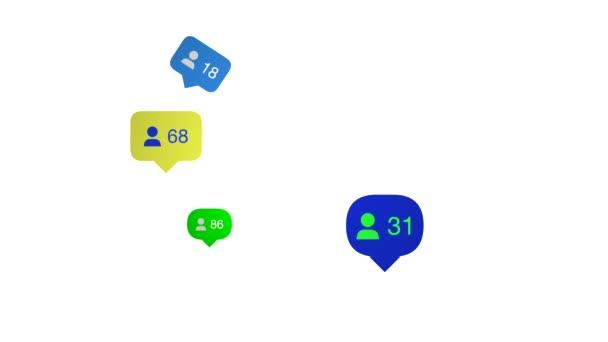 Social-Media-Livestylefollower kontern auf weißem Hintergrund