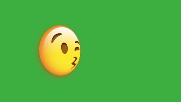 Blowing Kiss Face emoji ikona izolované na bílém pozadí pro aplikace a logo sociálních médií