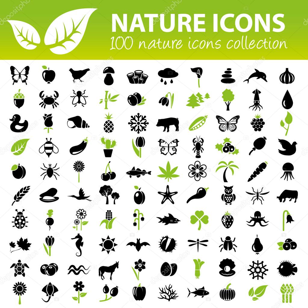 nature icons collection