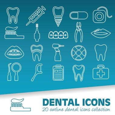 dental outline icons