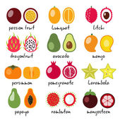 Fotografie exotic fruits collection