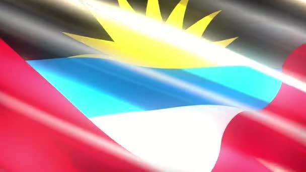 Antigua and Barbuda holiday flag - loop animation