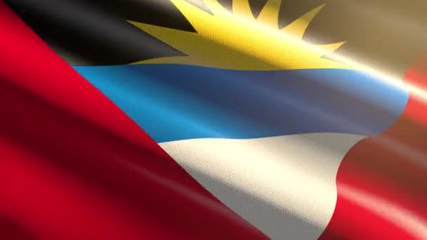 Antigua and Barbuda shiny flag - loop animation
