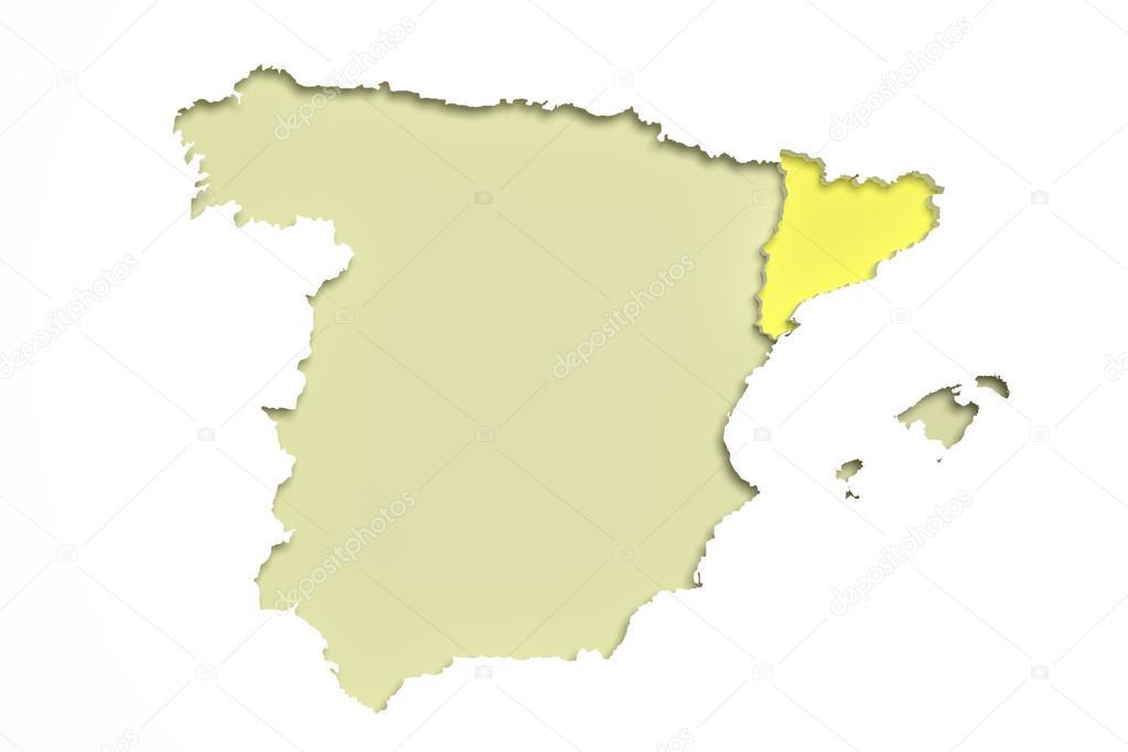 Spanien Katalonien Karte.Karte Von Katalonien Und Spanien Stockfoto Erllre 108121156