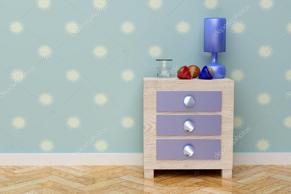 Blauwe kamer kinderen speelgoed kleine kinderen kamer bed