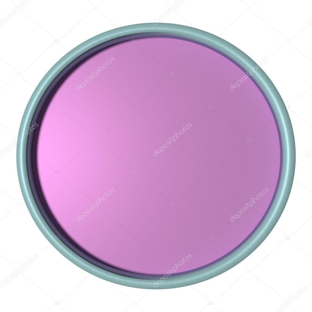 Bandeja color púrpura con el marco azul sobre fondo blanco — Foto de ...