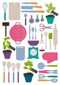 Fotografie Set of kitchen tools