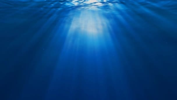 Underwater Scene With Sunrays Shining Through The Waters Surface