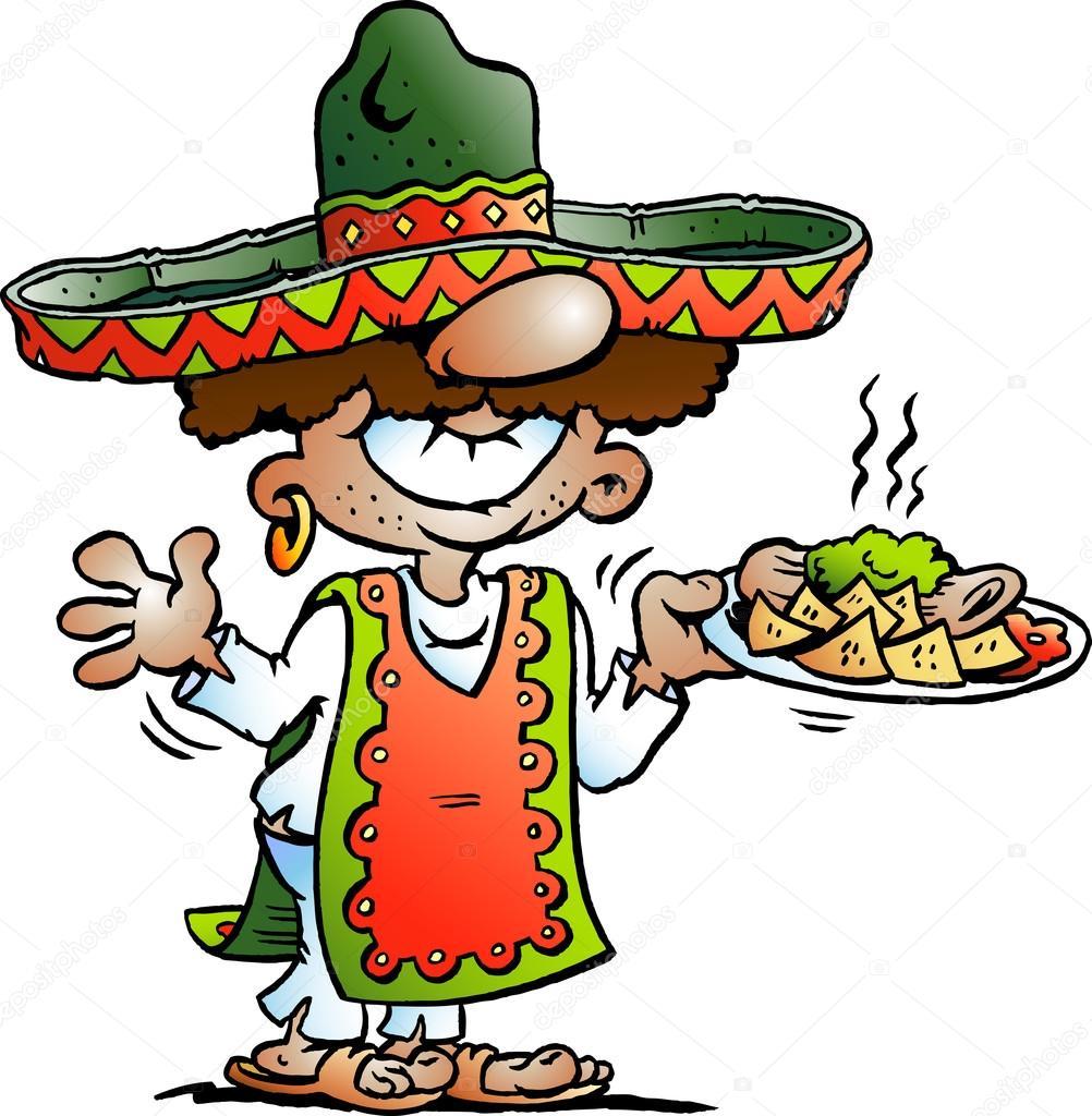 Vector ilustración de dibujos animados de un pie mexicano feliz con algunos  alimentos de Tarco — 08158359ac9