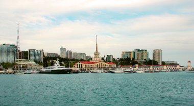 Sea port an marina in Sochi, Russia
