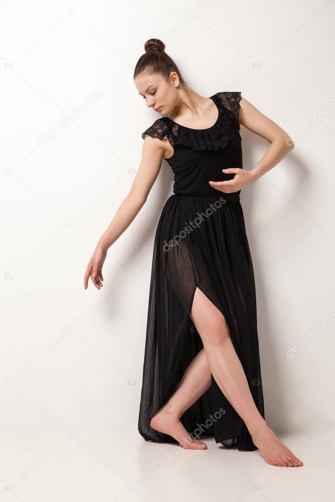 Черное платье балерины