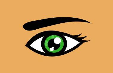 Green eye icon vector illustration art icon
