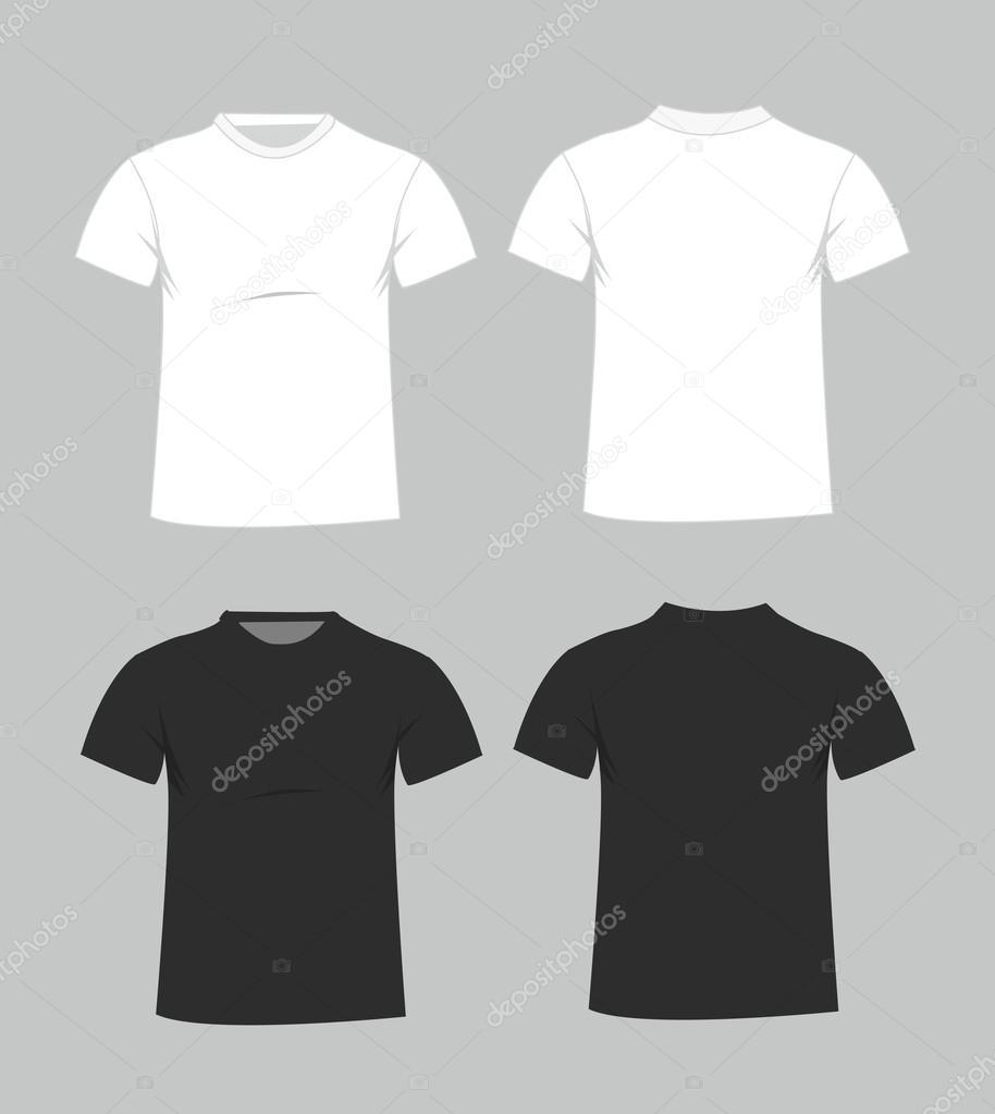 leere T-shirt-Vorlage. Vorder- und Rückseite — Stockvektor ...