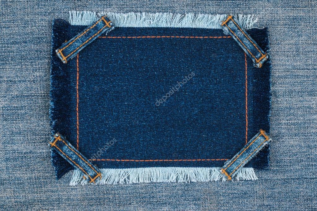 Rahmen mit vier Gurte Jeans, liegt auf der denim — Stockfoto ...