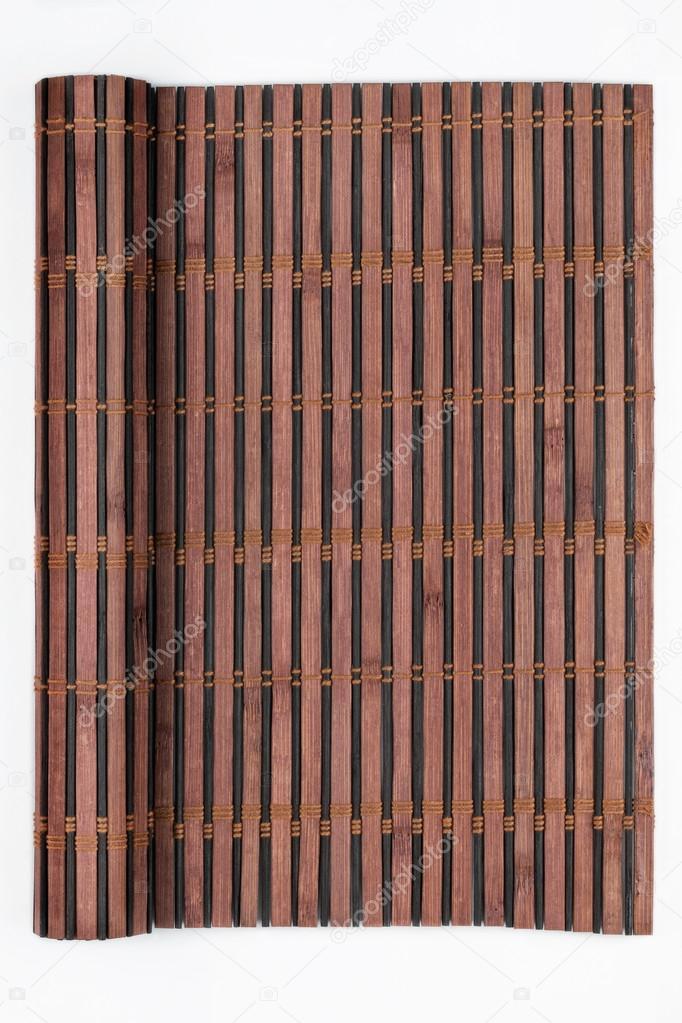 Marco hecho de estera de bambú en forma de un pergamino, manuscrito ...