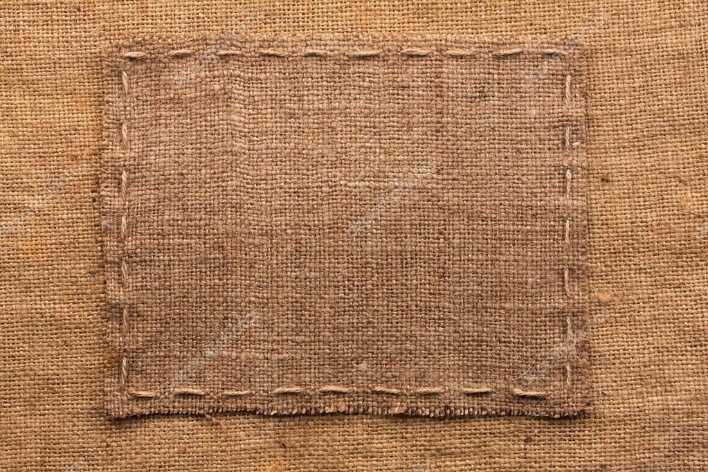 Marco de arpillera, se encuentra sobre un fondo de arpillera — Fotos ...