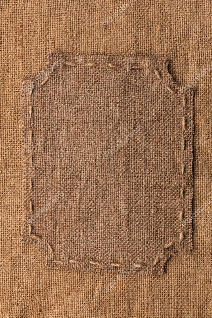 Marco de arpillera, se encuentra sobre un fondo de arpillera — Foto ...