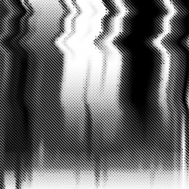 Glitch vector background. Halftone texture