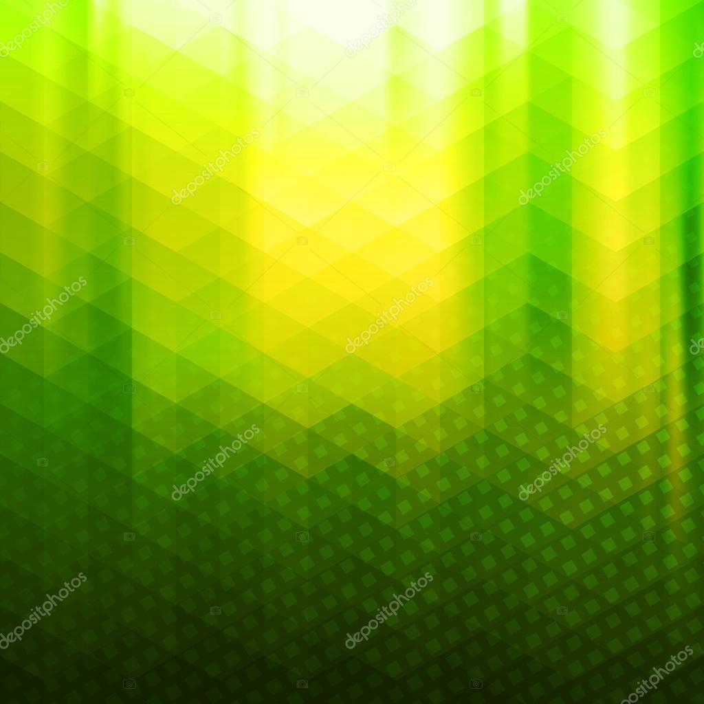 Green-yellow color polygonal vector background — Stock Vector ...