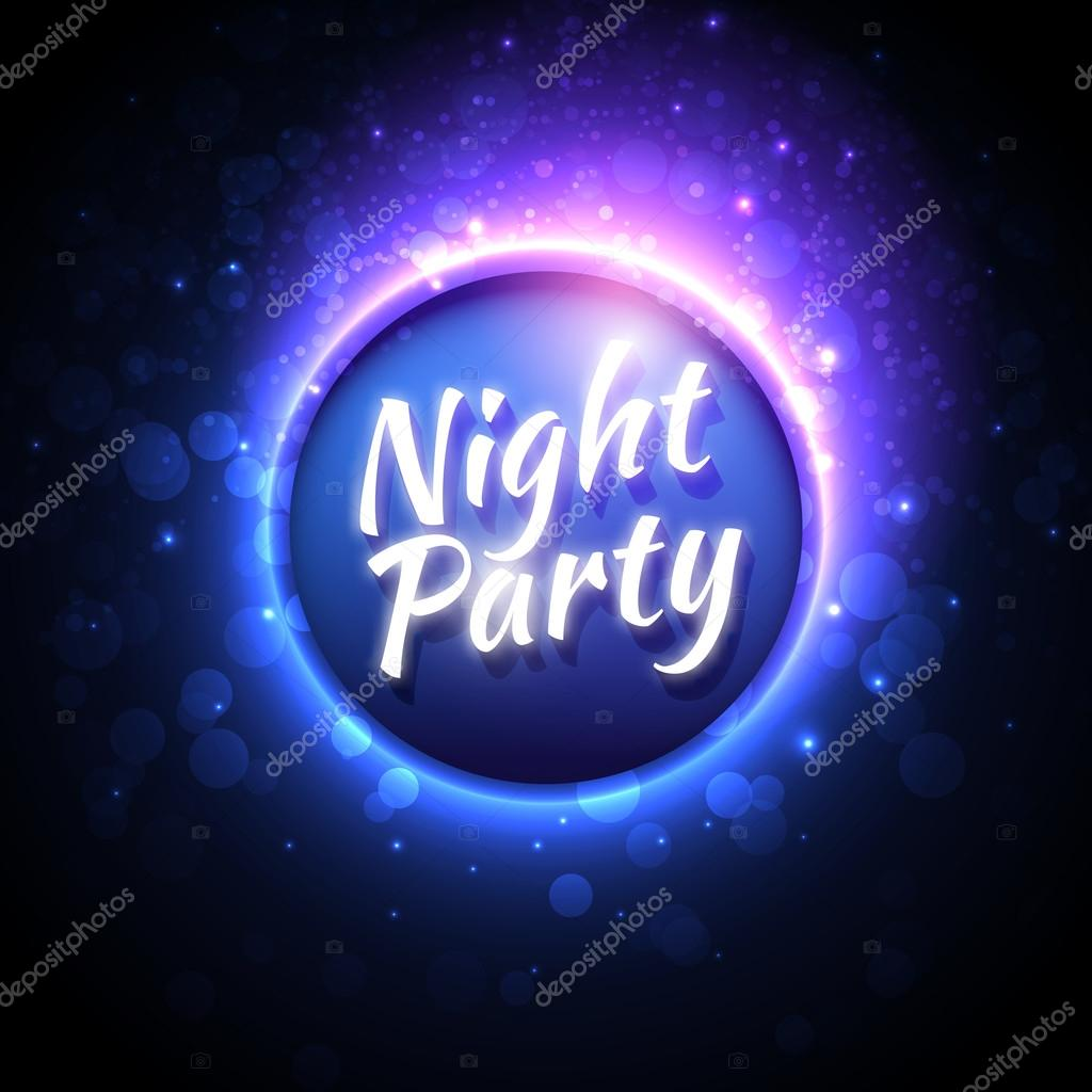 vector colorful flyer premium template for night party