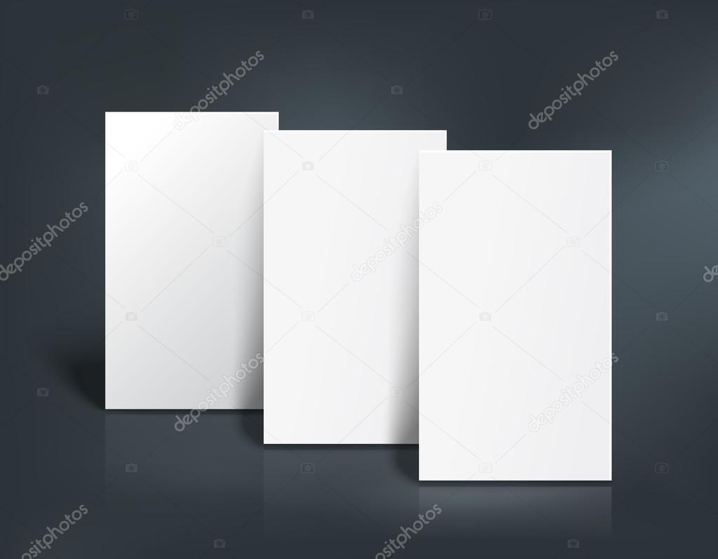 Mock Up Mit Drei Visitenkarten Vektor Illustration