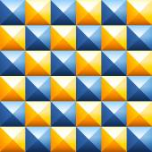 Fotografie Colorful pyramids seamless vector pattern