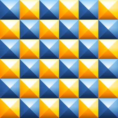 Colorful pyramids seamless vector pattern